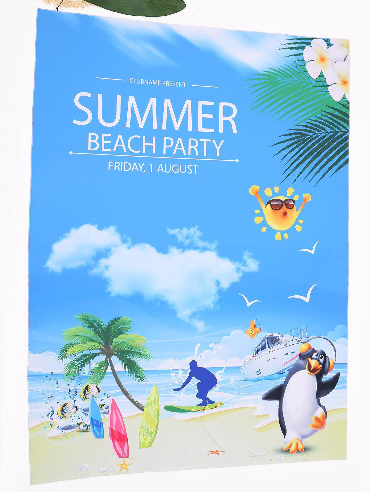 Cartoon Landscape Print Beach Throw - COLORMIX ONE SIZE