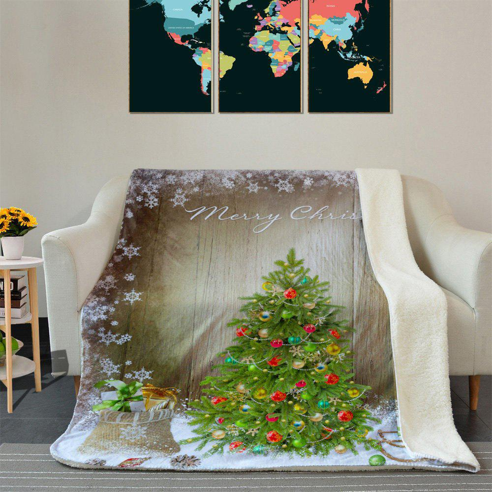 Christmas Tree Pattern Soft Fleece Blanket - COLORMIX W59 INCH * L79 INCH