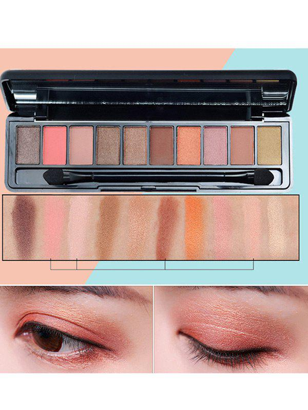 10 Colors Beauty Makeup Eyeshadow Platte With Brush -