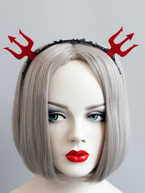 Halloween Devil Lace Hairband - RED