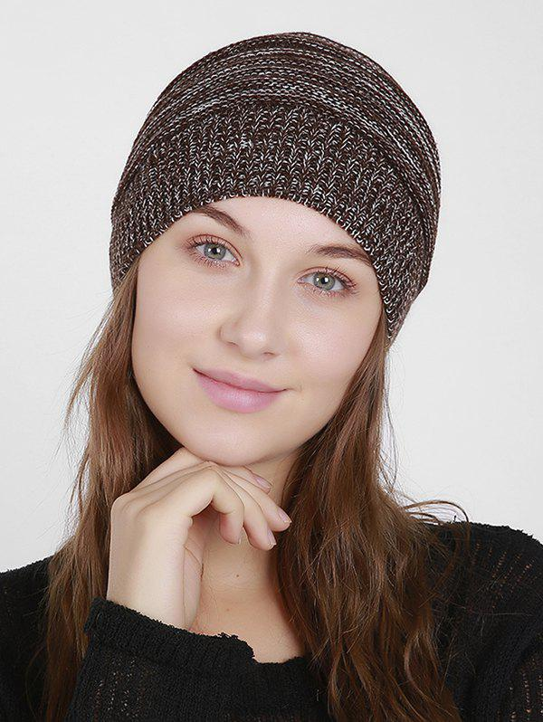 Mixed Color Knit Beanie Hat цена