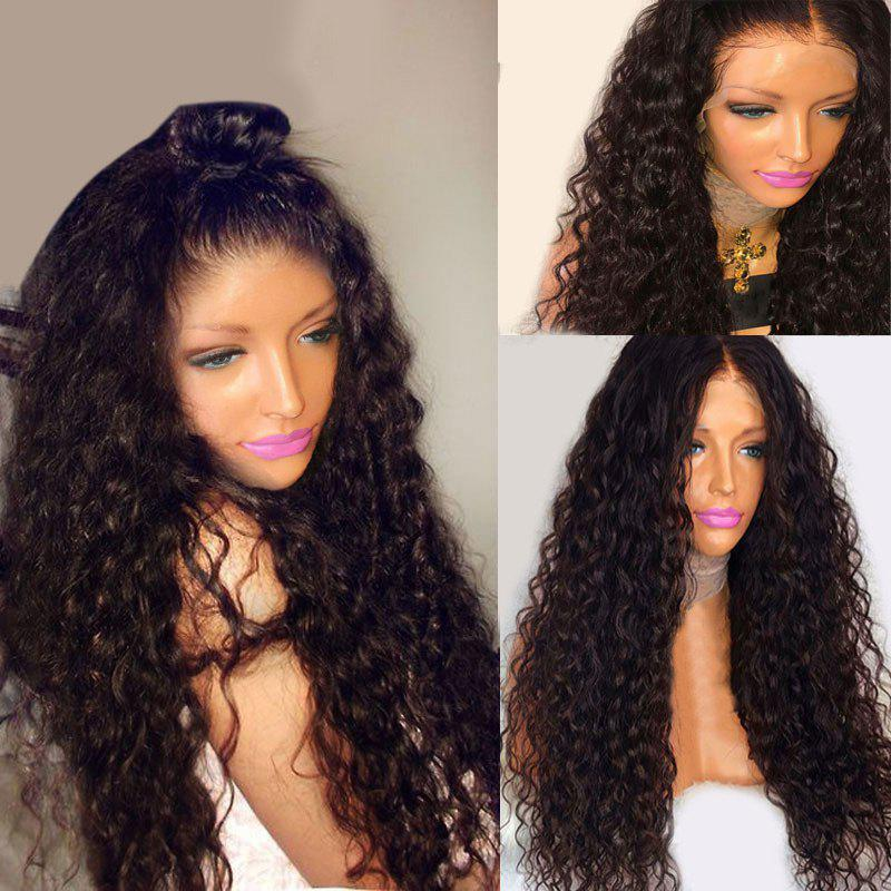 Long Free Part Bouffant Deep Wave Lace Front Synthetic Wig medium side part bouffant body wave synthetic wig