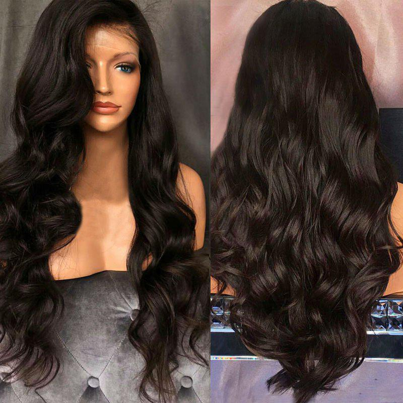 Free Part Long Fluffy Body Wave Lace Front Synthetic Wig long free part fluffy kinky curly synthetic lace front wig