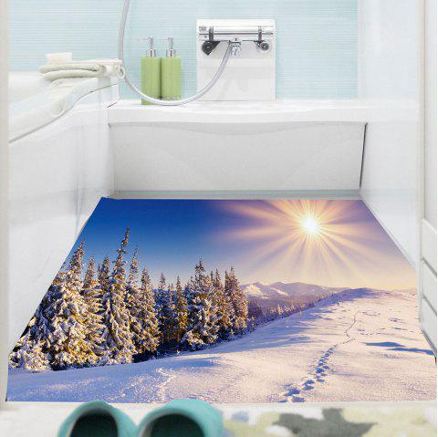 Snowscape Multifunction Decorative Wall Art Sticker - BLUE / WHITE 1PC:59*39 INCH( NO FRAME )