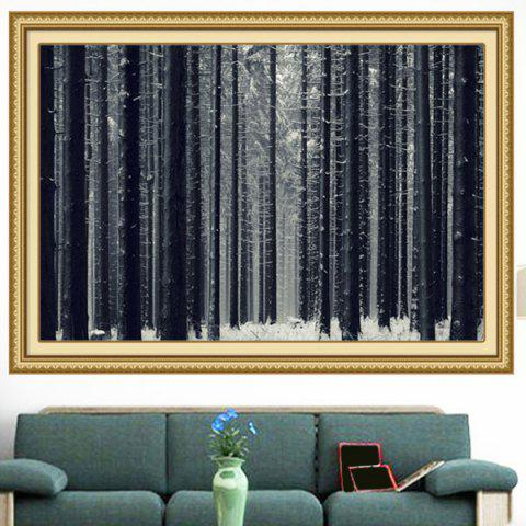 Snowfield Forest Multipurpose Wall Art Decorative Painting - GRAY 1PC:39*39 INCH( NO FRAME )