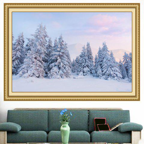 Snowscape Forest Decorative Multipurpose Wall Art Painting - GRAY 1PC:24*71 INCH( NO FRAME )