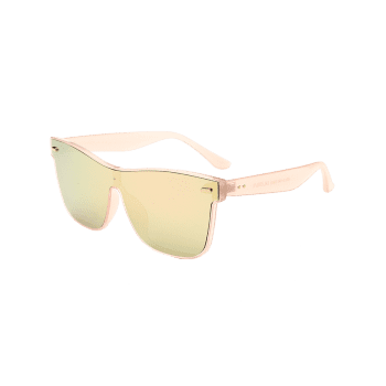 UV Protection Conjoined Frame Sunglasses - ROSE GOLD
