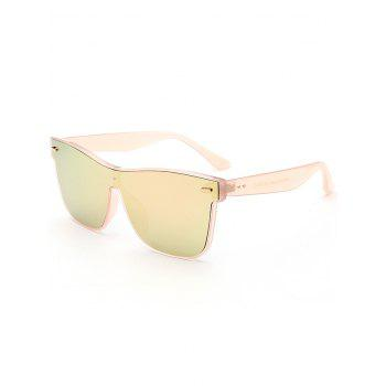 UV Protection Conjoined Frame Sunglasses - ROSE GOLD ROSE GOLD