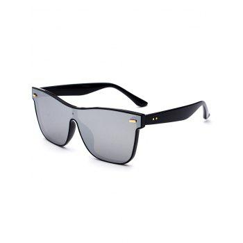 UV Protection Conjoined Frame Sunglasses - SILVER SILVER