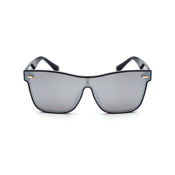 UV Protection Conjoined Frame Sunglasses -  SILVER