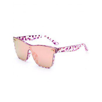 UV Protection Conjoined Frame Sunglasses - PINK PINK