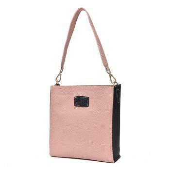 2 Pieces Contrasting Color Shoulder Bag Set -  PINK