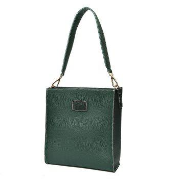 2 Pieces Contrasting Color Shoulder Bag Set -  GREEN