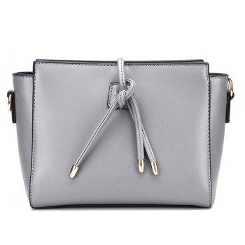 Faux Leather String 3 Pieces Shoulder Bag Set -  GRAY