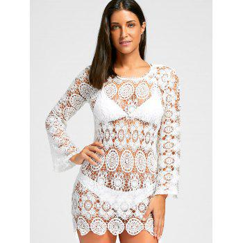 Boho Cover Up Dress - WHITE S