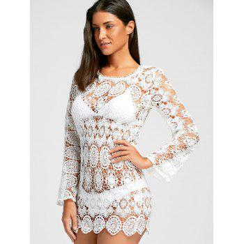 Boho Cover Up Dress - Blanc M