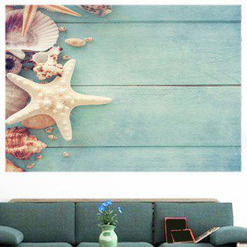 Board Starfish Patterned Decorative Multipurpose Wall Art Sticker - FRESH 1PC:39*39 INCH( NO FRAME )