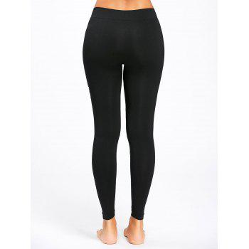 Everyday Hustlin Stretch Sports Leggings - BLACK BLACK