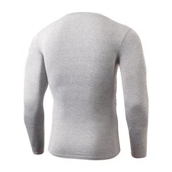Fitted Quick Dry Gym Long Sleeve T-shirt - LIGHT GRAY S