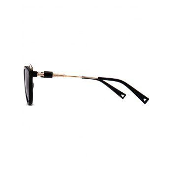UV Protection Metal Full Frame Crossbar Sunglasses - BLACK