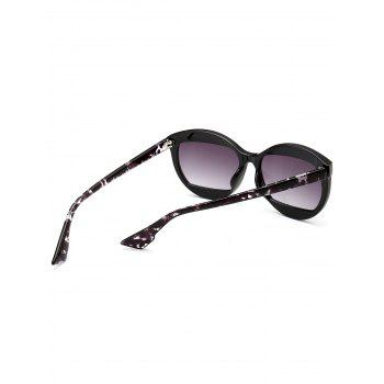 Eyebrow Design Cat Eye Sunglasses - BLACK