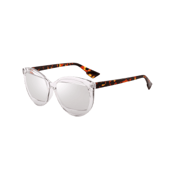 Eyebrow Design Cat Eye Sunglasses -  TRANSPARENT