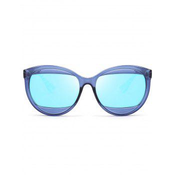 Eyebrow Design Cat Eye Sunglasses - BLUE
