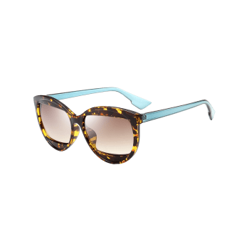 Eyebrow Design Cat Eye Sunglasses - TEA COLORED