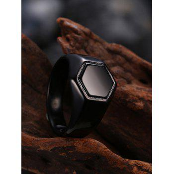 Alloy Hexagram Circle Finger Ring - 8 8