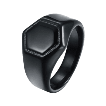 Alloy Hexagram Circle Finger Ring - BLACK 9