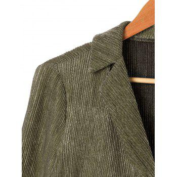 One Button Lapel Long Sleeve Blazer - CELADON CELADON