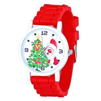 Christmas Tree Santa Face Silicone Watch