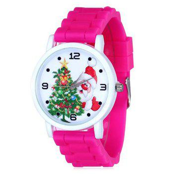 Christmas Tree Santa Face Silicone Watch - TUTTI FRUTTI TUTTI FRUTTI