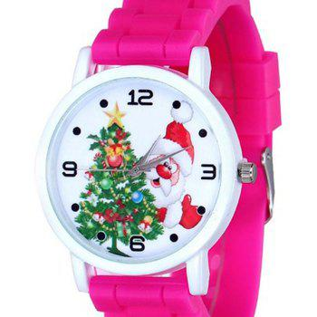Christmas Tree Santa Face Silicone Watch -  TUTTI FRUTTI