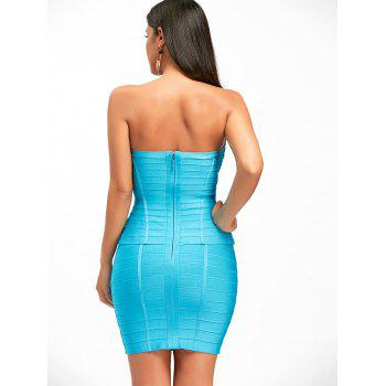 Hollow Out Bandeau Bandage Dress - M M