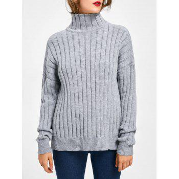 Turtle Neck Ribbed Sweater