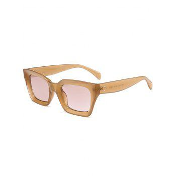 Vintage Anti UV Full Frame Square Sunglasses - LIGHT COFFEE LIGHT COFFEE