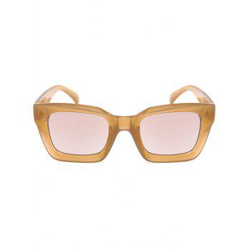 Vintage Anti UV Full Frame Square Sunglasses -  LIGHT COFFEE