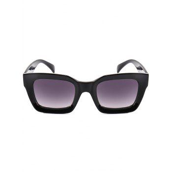 Vintage Anti UV Full Frame Square Sunglasses - BLACK