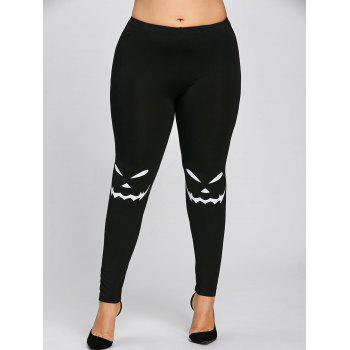 Halloween Plus Size Monochrome Leggings