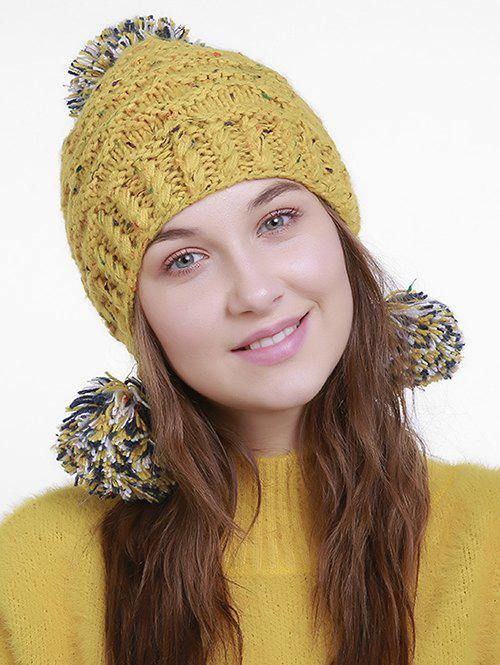 Outdoor Pom Ball Decorated Earmuff Knit Beanie