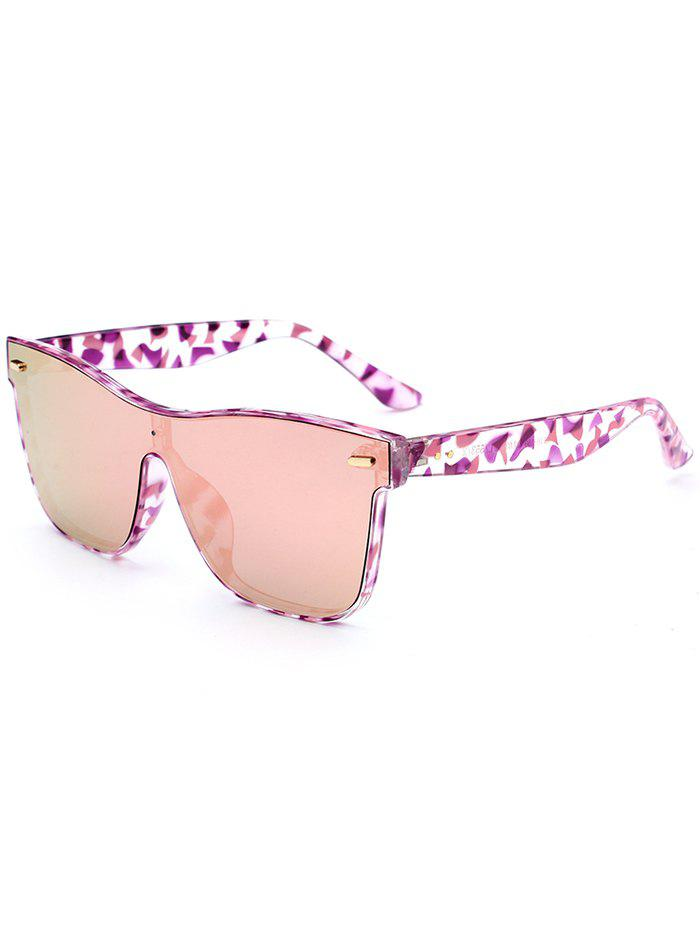 UV Protection Conjoined Frame Sunglasses - PINK