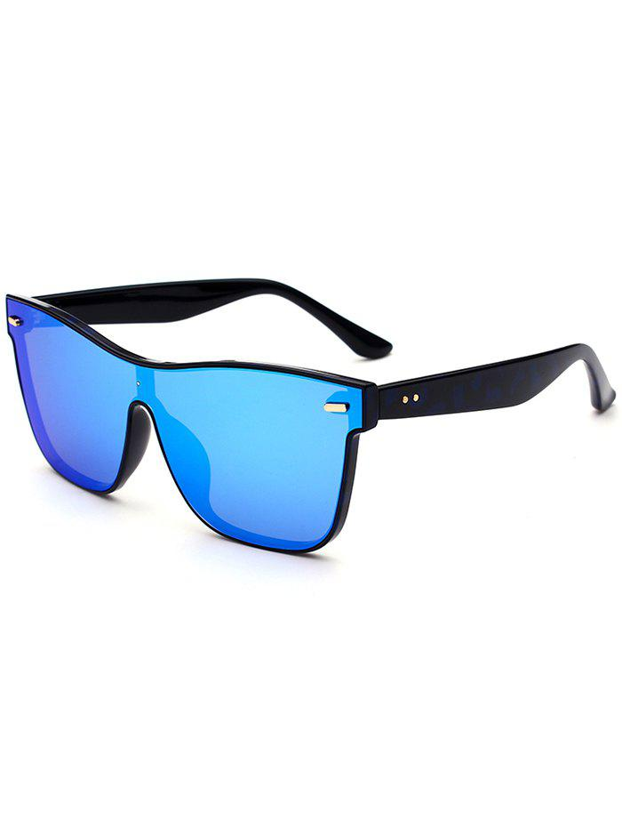 UV Protection Conjoined Frame Sunglasses - BLUE