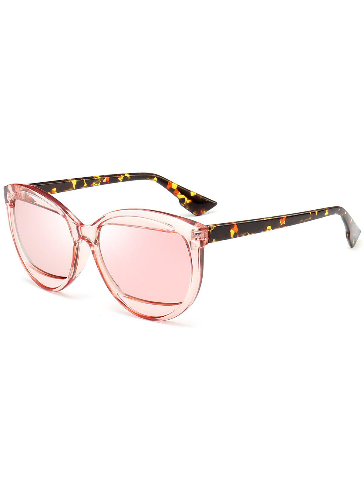 Eyebrow Design Cat Eye Sunglasses - PINK