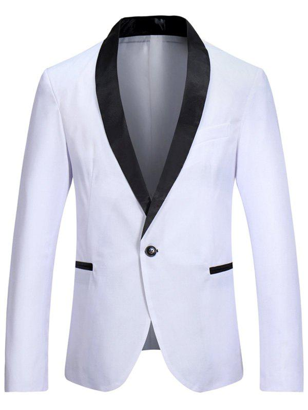Casual Shawl Collar One Button Tuxedo Blazer shawl collar long sleeve one button cardigan