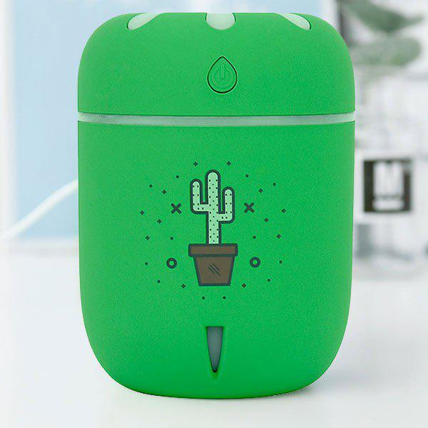 Humidificateur d'air à LED à changement de couleur à la camomille USB - Vert