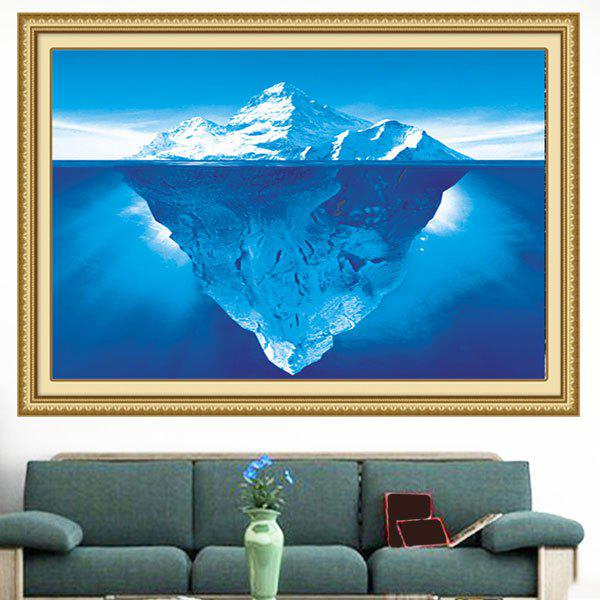 Decorative Snow Mountain Pattern Multipurpose Wall Art Painting - BLUE 1PC:24*24 INCH( NO FRAME )
