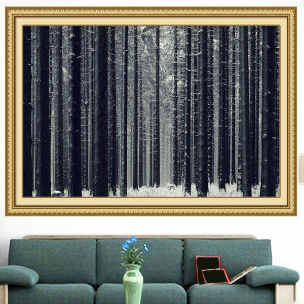 Snowfield Forest Multipurpose Wall Art Decorative Painting - GRAY 1PC:24*47 INCH( NO FRAME )