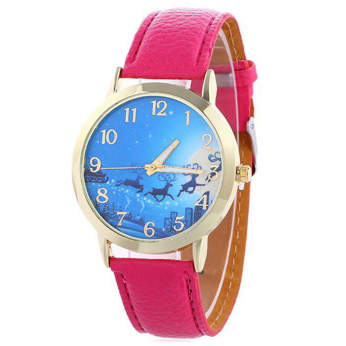 Christmas Deer Sleigh Face Number Watch - TUTTI FRUTTI