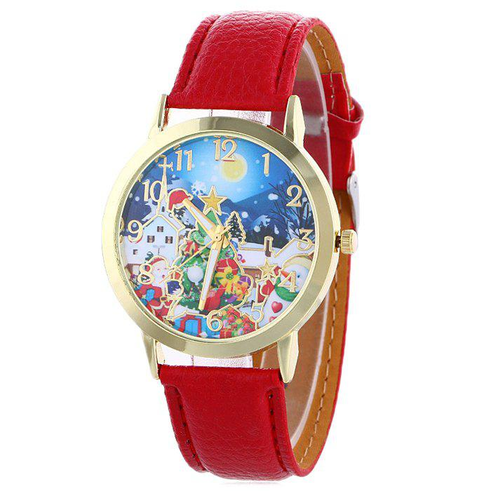 Christmas night tree face number watch red in women s